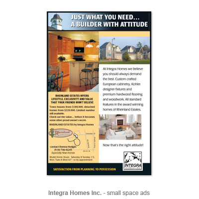 Integra Homes ad