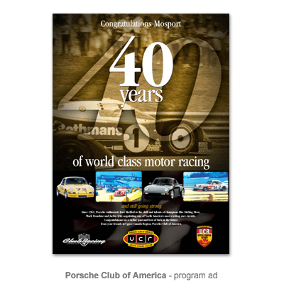 Porsche Club of America ad