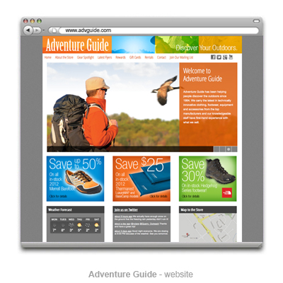 Adventure Guide website