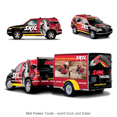 Skil truck and trailer