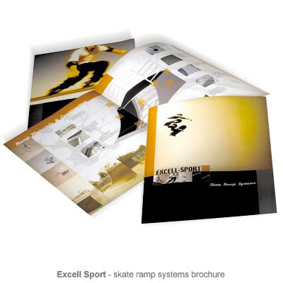 Excell Sport skate ramp brochure