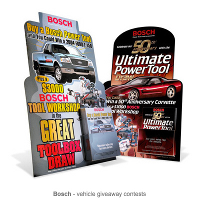 Bosch contest POP displays