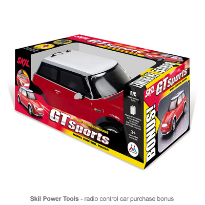 Skil rc car bonus packaging
