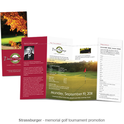 Strassburger memorial golf tournament promotion