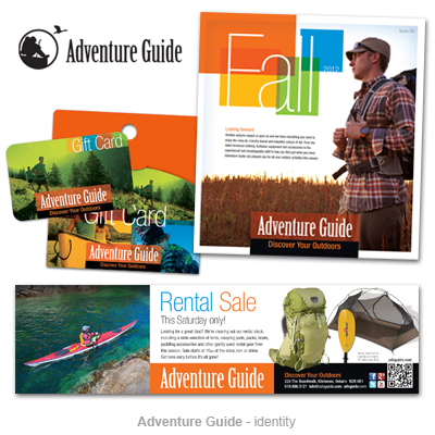 Adventure Guide outdoor store identity