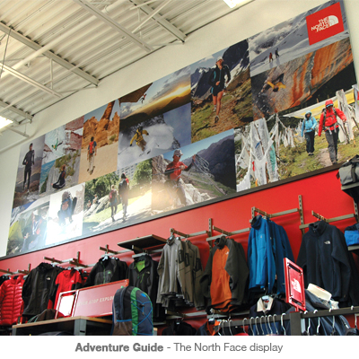 Adventure Guide The North Face wall