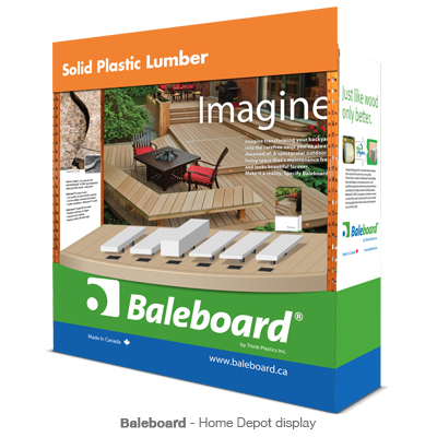 Baleboard Home Depot display